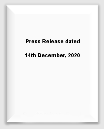 Press Release dated 14th December, 2020