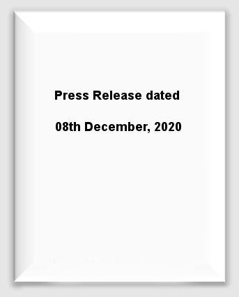 Press Release dated 08th December, 2020