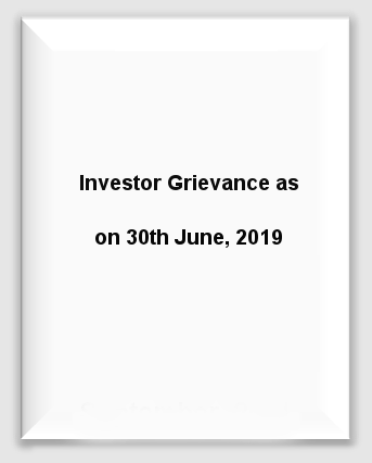 Marine Investor Grievance 30th June 19