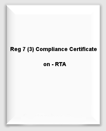 Half Yearly - Reg7(3)ComplianceCertificate-RTA